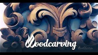 Woodcarving Baroque Element ►► Timelapse Урок Резьба по дереву Стиль Барокко