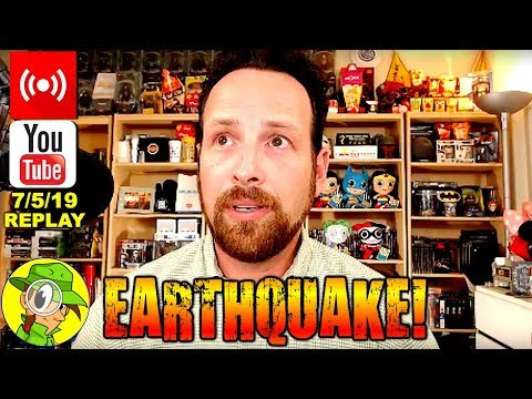 7.1 Magnitude  EARTHQUAKE During Livestream! Caught On Camera July 5, 2019! Peep THIS Out!