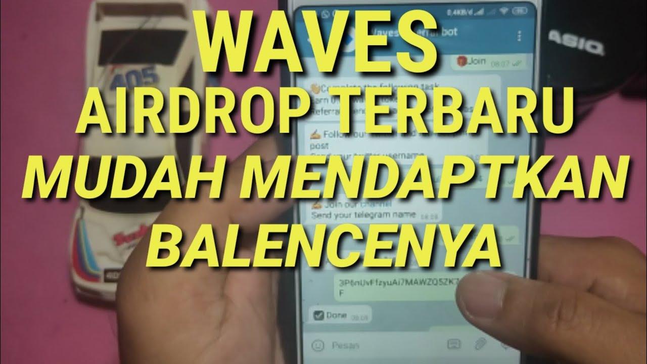 WAVES AIRDROP MUDAH MENDAPATKAN REWARDNYA #STAYATHOME 4