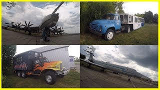Exploring Old Planes, Special Truck and Strange Abandoned Truck in Aviation Museum 2018