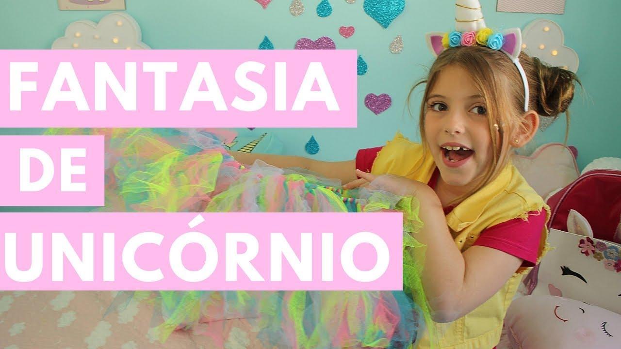Fantasia De Unicornio Chifre Saia Diy Carnaval Youtube