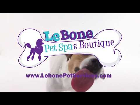 Le Bone Pet Spa Services Logo animation By Heavy Graphics Marketing