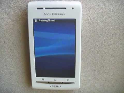 Factory Resetting my friends Sony Xperia X8 running stock Android 2.1 Eclair. It takes 3 minutes.