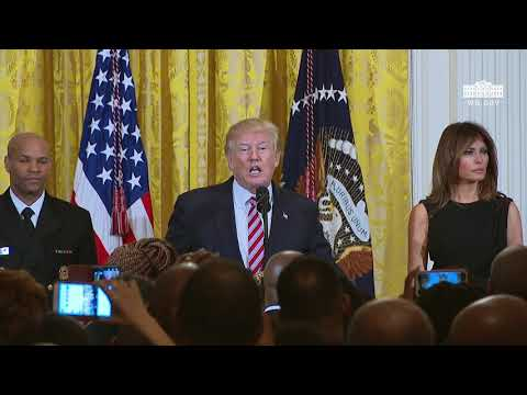 President Trump and The First Lady Host a National African American History Month Reception