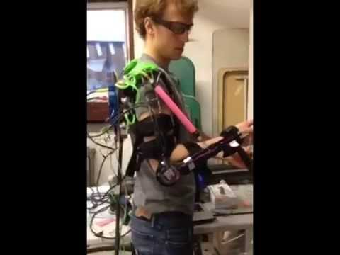 Air Muscle Powered Exoskeleton