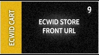 Web Design Tutorials for Xara Web Designer 9 Premium Lesson 130: Ecwid Store Front Url