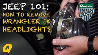 How to Remove Jeep Wrangler JK Factory Headlights