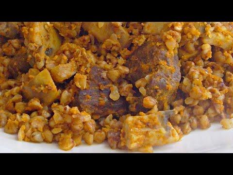 Гречка с Шампиньонами и Мясом в Мультиварке кулинарный видео рецепт
