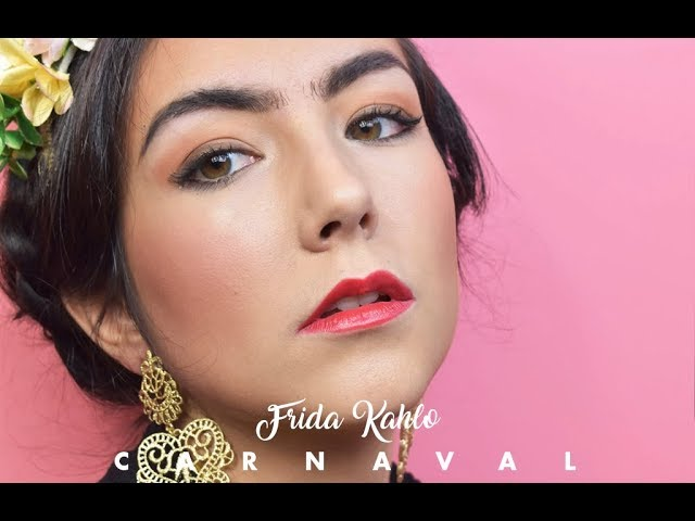 Carnival makeup and hairstyle: Frida Kahlo tutorial
