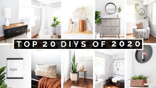 TOP 20 DIY HOME DECOR & IKEA HACKS OF 2020 | AFFORDABLE & AESTHETIC | 2021 DIY DECOR INSPIRATION
