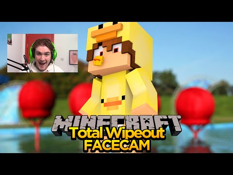MINECRAFT FACECAM - TOTAL WIPEOUT ADVENTURE MAP!!!