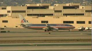 Boeing 737 at Los Angeles International Airport LAX - Airport Movement - 010210  - Aviation