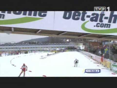Liberec 2009 Cross Country Women 30km Finish (Justyna Kowalczyk gold medal)