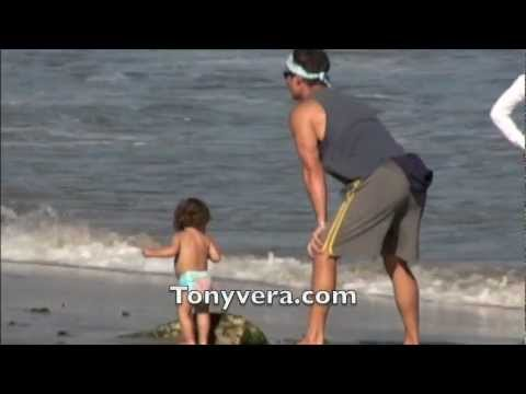 Matthew McConaughey and Camila Alves squeeze in some family fun on the beach of mailbu