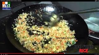 EGG FRIED RICE - STREET FOOD AROUND THE WORLD - HYDERABAD