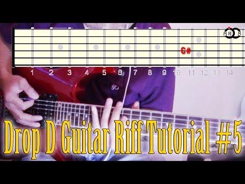 Drop D Guitar Riff Tutorial #5