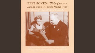 Violin Concerto in D Minor, Op. 47: applause and closing announcement