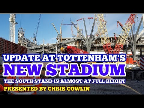 UPDATE AT TOTTENHAM'S NEW STADIUM: South Stand is Almost at Full Height - 9 December 2017