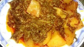 नए तरीके से बनाये आलू पालक की सब्जी Aloo Palak ki Sookhi Sabzi How To Make Recipe