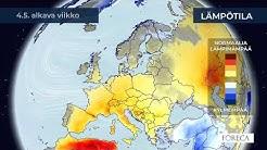 Kuukausiennuste lämpötiloista 28.4.2020