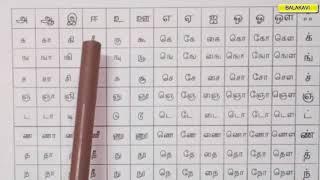 247 LETTERS தமிழ் உயிர் மெய் எழுத்துகள்