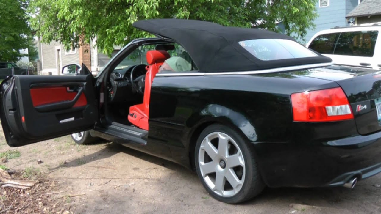How To Manually Operate 2005 B6 Audi S4 Convertible Top