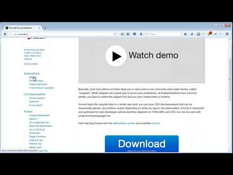Урок 5  Редактор Notepad++  Плагины  Плагин Emmet  Часть 3