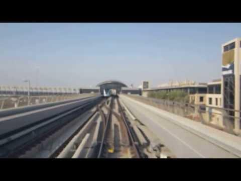 Dubai Metro approaching First Gulf Bank