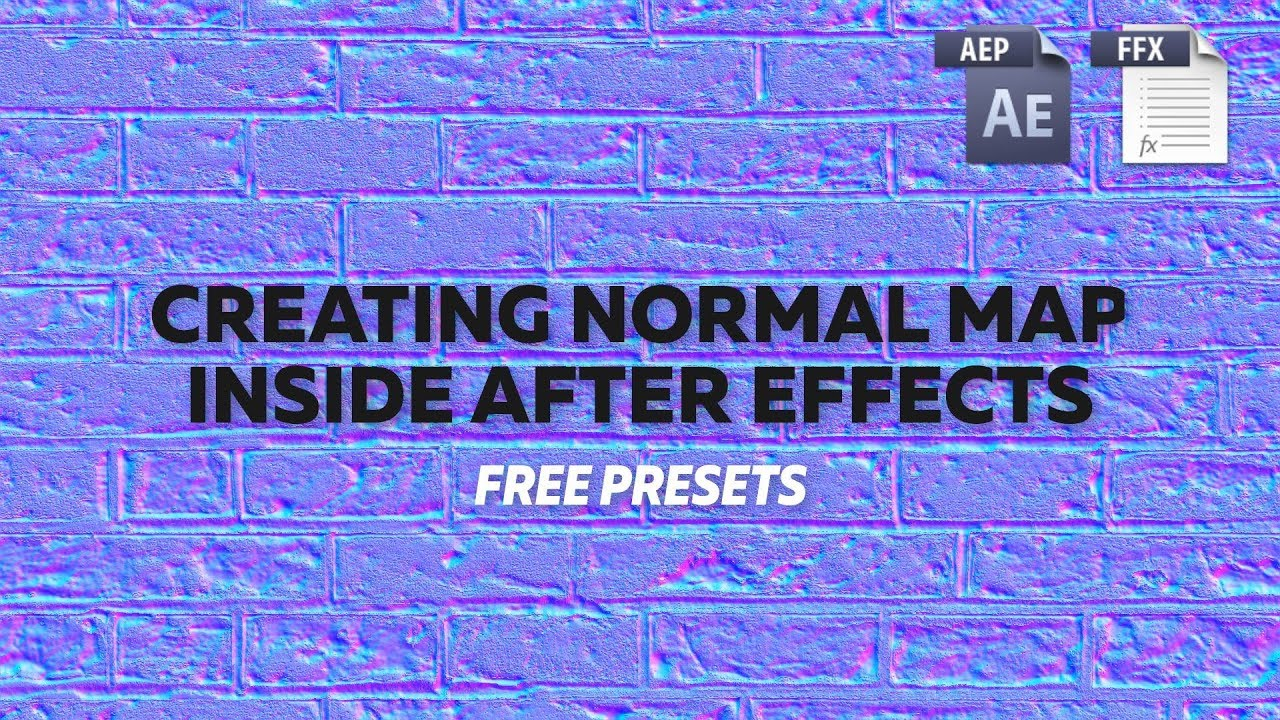 Creating Normal Map inside After Effects [FREE PRESETS]