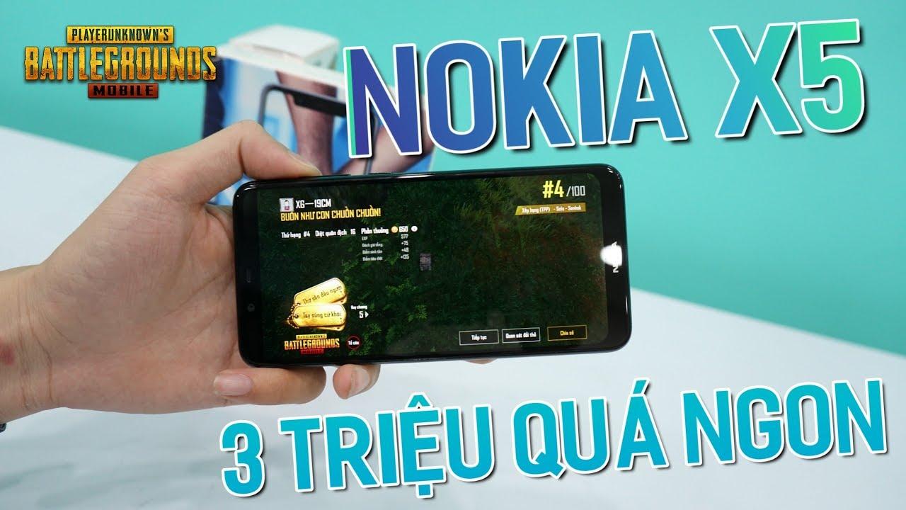 Đây Chiến Là Smartphone 3 Triệu Chiến Game PUBG Mobile Tốt Nhất ?! Nokia X5 (5.1 Plus)
