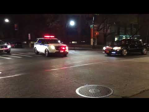 NYPD UNMARKED CRUISER RESPONDING ON 149TH STREET IN MOTT HAVEN AREA OF THE BRONX, NEW YORK CITY.