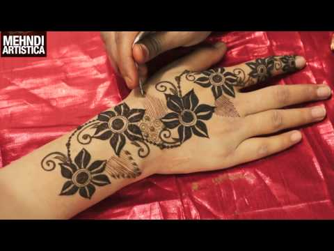 DIY Floral Heena Mehendi Designs For Hands|Easy Stylish Trendy Mahendi By MehndiArtistica Tutorial