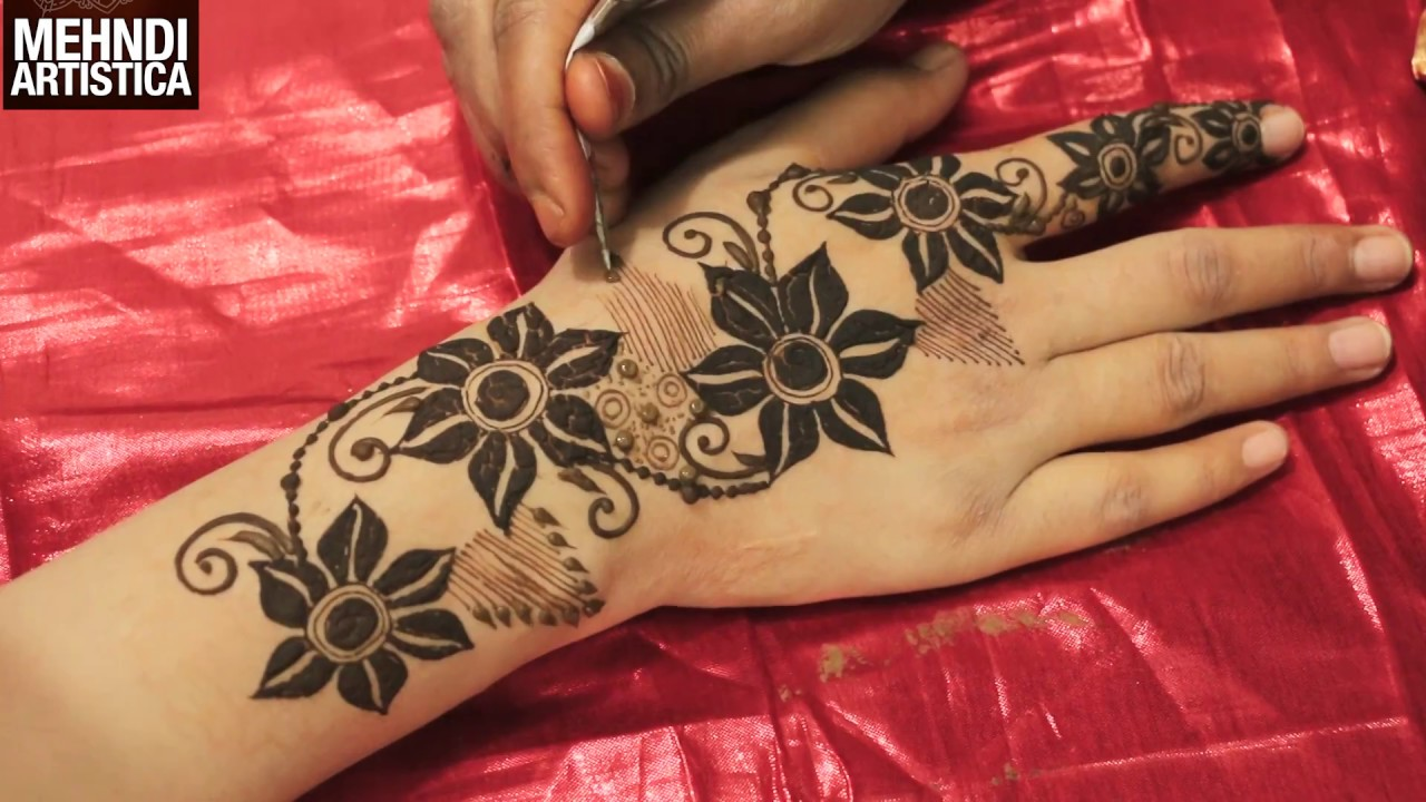 Diy Floral Heena Mehendi Designs For Hands Easy Stylish Trendy