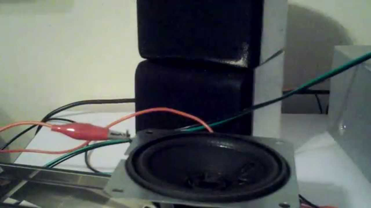 Blowing an x-rocker game chair speaker 6-5-15 & Blowing an x-rocker game chair speaker 6-5-15 - YouTube