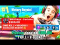 DONATING $$$ TO 13 YEAR OLD FORTNITE STR