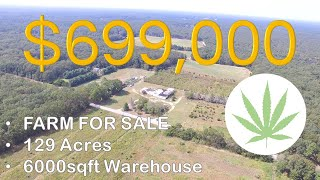 FARM FOR SALE | 129 Acres | HUGE Warehouse | Farmhouse | Atlantic County, NJ