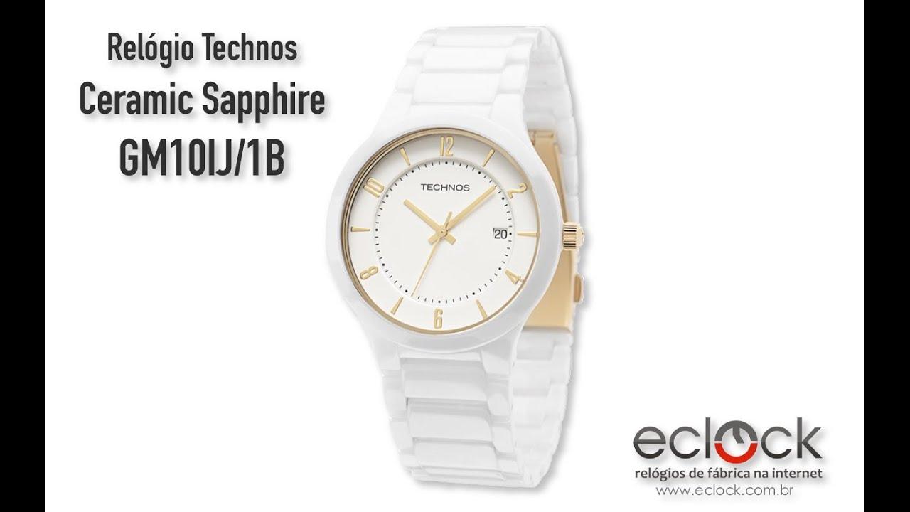 Relógio Technos Feminino Ceramic Sapphire GM10IJ 1B - Eclock - YouTube 6afd938ad1