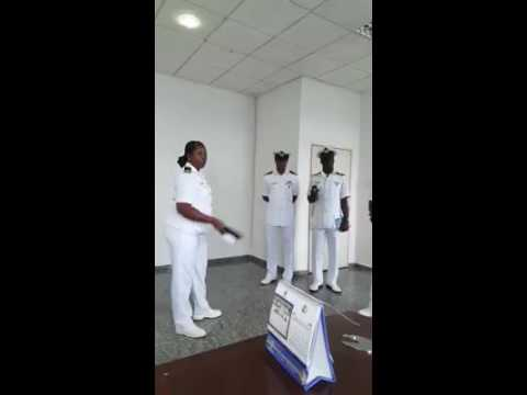 Female Junior Naval officer insults and harass a Male Senior officer