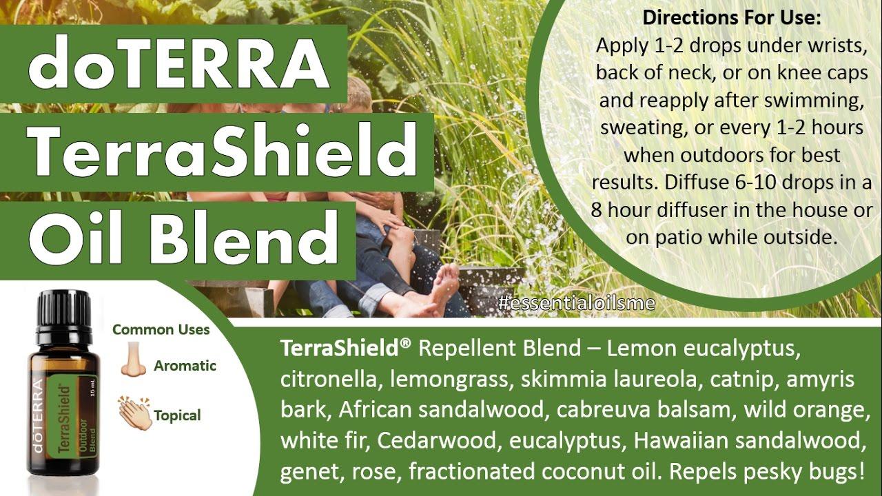 Terrific doTERRA TerraShield Oil Blend Uses