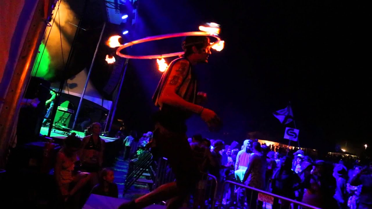 Bryan Pope - Fire Hoop performance at Sonic Bloom 2015