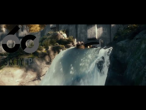 [60FPS] The Hobbit The Desolation of The Smaug Barrel Scene  60FPS HFR HD