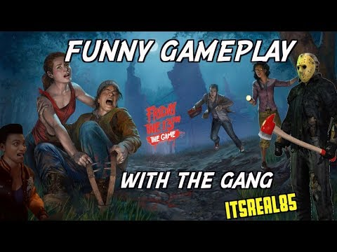 """FUNNY """"FRIDAY THE 13TH, THE GAME"""" GAMEPLAY WITH THE CREW"""
