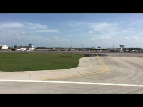 AMERICAN AIRLINES A321 BUSINESS SEAT 2F TAKEOFF FROM PORT OF SPAIN (POS) TRINIDAD