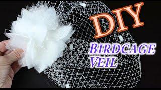 DIY Birdcage Bridal Veil