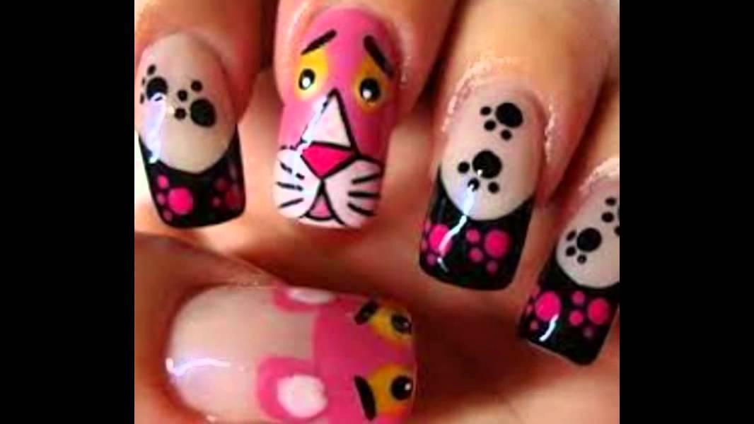 Nuevos diseños de uñas - YouTube