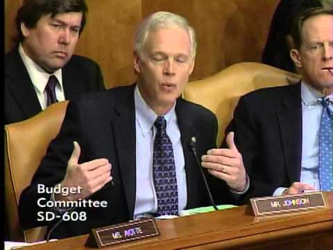 Senator Johnson at Senate Budget Committee Hearing