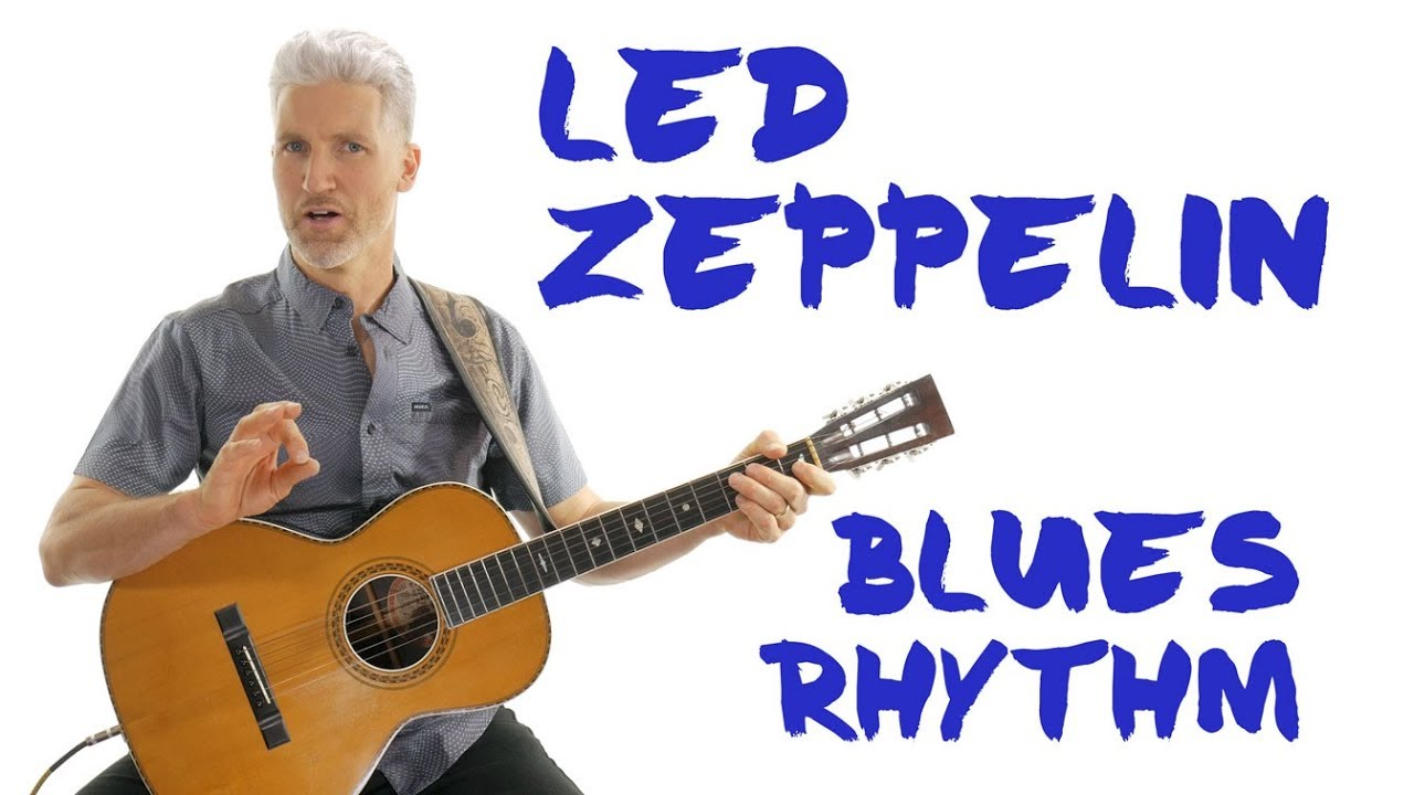 Led Zeppelin Acoustic Blues Guitar Lesson | Bring It On Home Rhythm | 4K
