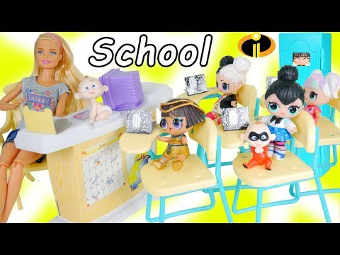 The Incredibles 2 Baby Jack Jack at School | LOL SURPRISE Fun Toys + Dolls for Kids | ToyEggVideos