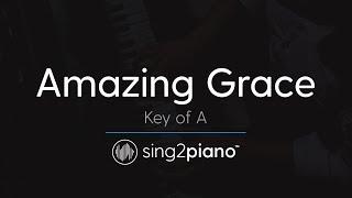 Amazing Grace (Key of A - Piano Karaoke Instrumental)