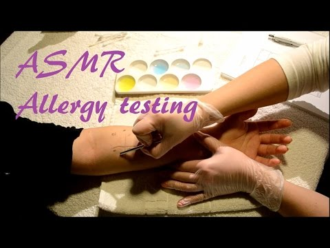 ASMR - Allergy testing on arm (No talking, real person)